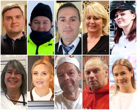 DELER: Håkon, Nikolai, Musa, Janne, Camilla, Wenche, Marta, Henrik, Helge og Iselin har helt vanlige jobber på Romerike. Se hva de tjener og hva de tenker om sin egen lønn.
