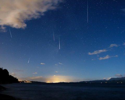 Meteorar på himmelen er fascinerande for mange, og no får Kvinnherad vidaregåande skule vera med på eit svært spennande pro-sjekt med Solobservatoriet. (Illustrasjonsbilde: Lars Martin Teigen).