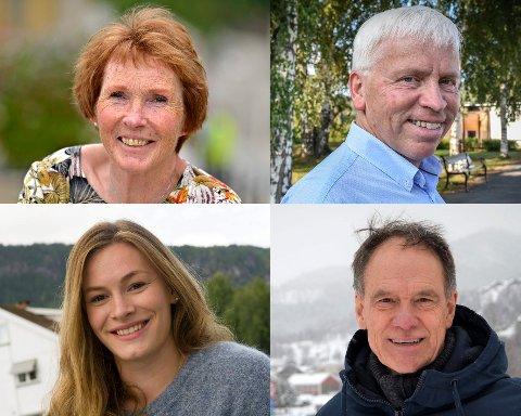 UTÅLMODIGE: Ordførerne Kari Anne Sand (Kongsberg), Oddvar Garaas (Flesberg), Viel Jaren Heitmann (Rollag) og Jan Gaute Bjerke (Nore og Uvdal) skulle gjerne sett flere vaksinedoser komme, men nå endrer myndighetene sin strategi.