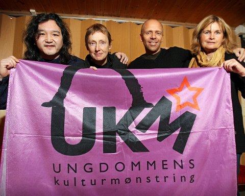 HVER TIL SITT: Kulturarbeiderne Jo Fahlstrøm (Moss, fra venstre), Nina Søbye (Råde), Kjell Berntsen (Våler) og Trine Syvertsen (Rygge) har samarbeidet om felles UKM både i 2014 og 2015, men bestemte seg for å skrinlegge samarbeidet i fjor.