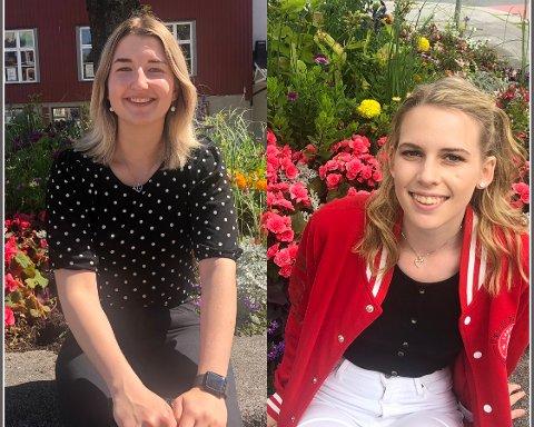 Oliwia Pawik (19) og Sofie Norrøne Thelin (20) skal studere i utlandet.