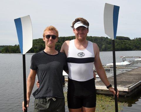 VM-KLARE: Audun Grepperud og Nicolay Bjønnes Yngsdal skal representere Ormsund Roklub i U23-VM.