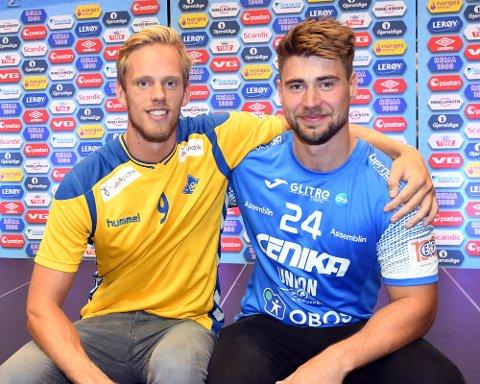 GODE VENNER UTENFOR BANEN: Emil Midtbø Sundal og Johannes Hippe er kompiser, men lover bort noen smeller til hverandre på banen.