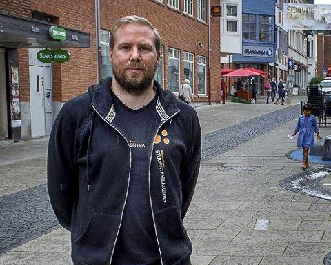 – virker realistisk: Nestleder i Studentparlamentet, Ole-Jakob Oosterhof er glad for at kommunen virker å ta bolig på alvor FOTO: BRYNJAR EIDSTUEN
