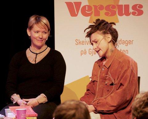 SKEIV LITTERATUR: Unn Conradi Andersen (t.v.) og Martine Johansen gjester bokbadet som er startskuddet for Norges første skeive litteraturfestival.