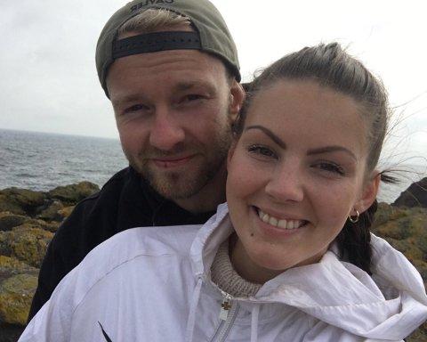 TUR: Veronica Wick og Benjamin Lindquist hadde planer om å bestige Nørdre Kalvehølotind lørdag.