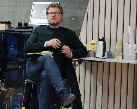 VENTET: Anders Såheim hos Bee AS ventet på at politikerne skulle behandle Skolekvartalet.