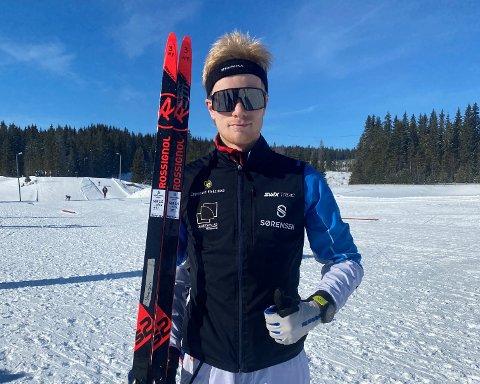 HAR FLYTTET: Fredrik Glomsrud Stenersen (bildet) og Magnus Braathen Olsen har begge flyttet fra Oppegård til Lillehammer for å satse. Begge hevdet seg bra i sesongens største renn for juniorer i helgen.