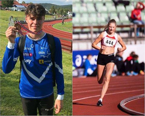 BRONSEVINNERE: Marcus Henriksen (til venstre) fra Orion og Hanna Hagevik Bakke fra Trysilgutten.