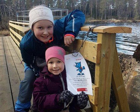 Skrabberud: Ingeborg og Solveig Brunsnes har syklet og gått 18 km til sammen i turområdet Skrabberud.