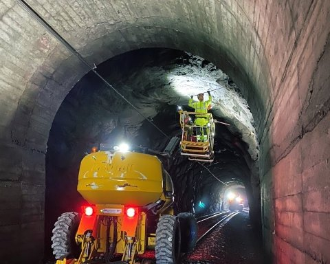 Det jobbes med tunnelsikring på Nordlandsbanen.