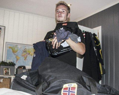 Ikke kampklar: Erik Tobias Sandberg er sikker på at han er klar til både å kjempe om startplass i serieåpningen og også bidra for U19-landslaget i EM-kvalifisering i mars. Foto: Per M. Sødal