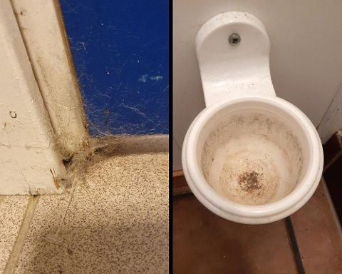 SKITTENT: Flere ansatte i Forsvaret forteller at renholdet ikke holder mål. – Det er en enorm smittekilde og gir et dårligere arbeidsmiljø, sier hovedverneombud Joar Hartveit Haugstad. Dette er kun to av eksemplene han har sendt til RB.