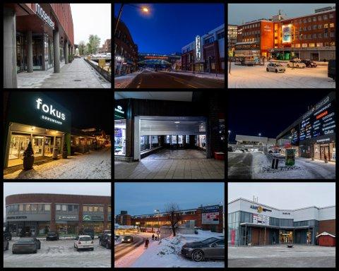 MANGE STENGTE BUTIKKER: Kjøpesentrene i flere kommuner på Romerike er hardt rammet av de nye tiltakene som ble innført i helgen.
