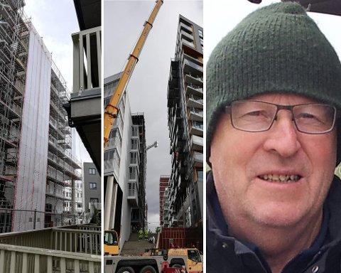 REAGERER: Pål Ivar Stenbro mener det blir bygget altfor høyt og tett i Lillestrøm.
