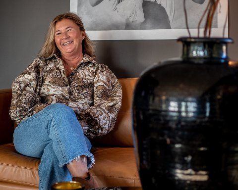 NY TILVÆRELSE: Anne Kristoffersen og mannen hennes Jan trives godt i sin nye tilværelse som leilighetseiere.