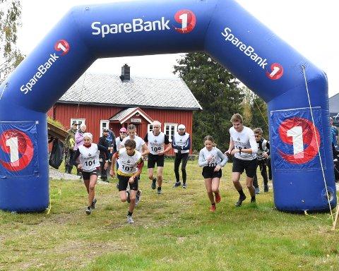 Andorfjellet: I år var det sju startende i konkurranseklassen under motbakkeløpet Andorfjellet opp.