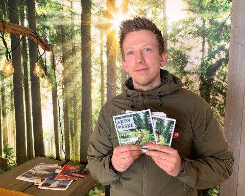 AKTIV PÅSKE: Fred Ronny Johannessen (34) og Notodden turlag ønsker velkommen til Aktiv Påske. Nå håper de enda flere kommer seg ut på tur i påska.
