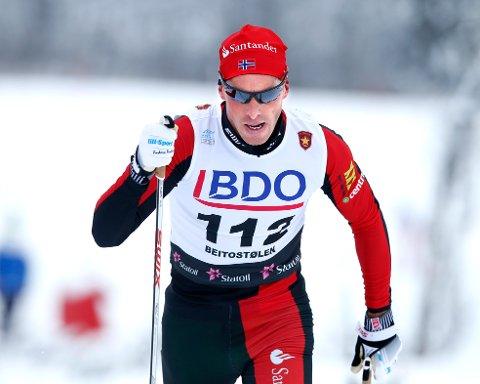 HJELPELØPER: Anders Aukland preget mye av langløpet lørdag, og la grunnlaget for spurtseieren til lagkameratene på Team Santander.