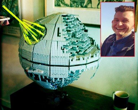 SELGER STAR WARS-ROMSKIP: Dag selger lego-modellen for nesten fire ganger så mye som han kjøpte det for.