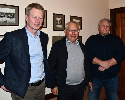 Xtra-lista ligger an til å gjøre et bra valg. He representert ved tre av kandidatene. Fv Knut Aall, Rolf Siljedal og Morten Løvdal.