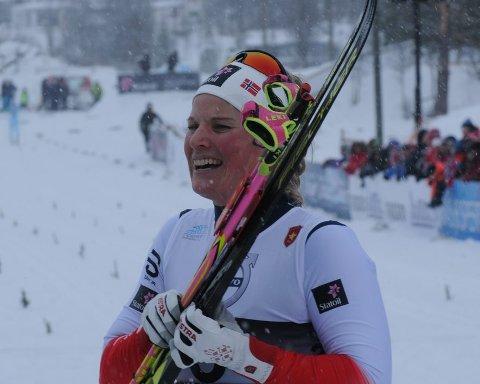 34. plass: Det vil seg ikke for Mari Eide i mellomhøgden i sveitsiske Lenzerheide.