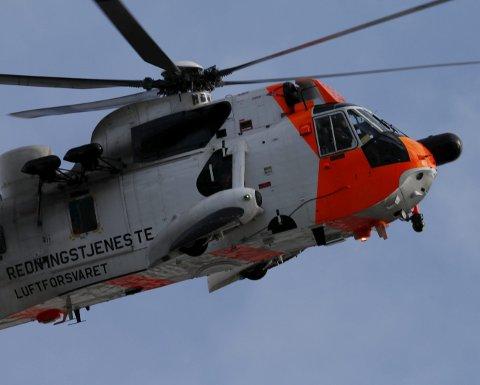 Redningshelikopteret deltok i søket.