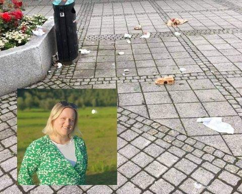 Avdelingsleder for Kirkens Bymisjon Bodø, Kathrine Windsrygg sier det er synd at søppelet flyter, men håper samtidig det gjør det harde arbeidet bak Ren By mer synlig.