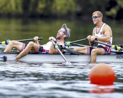 Denne helgen arrangeres sesongens første verdenscup, med Are Strandli (liggende) og bergenser Kristoffer Brun i tungvektsklassen. (Foto: NTB scanpix)