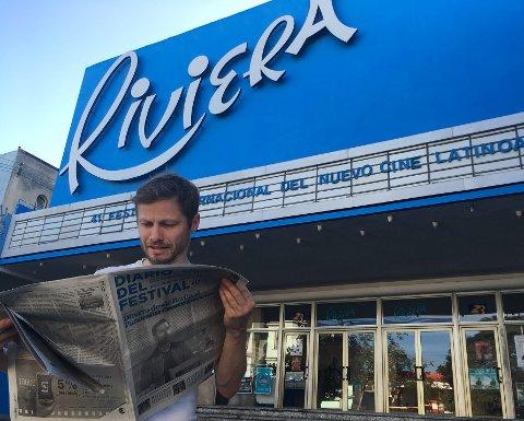 På festival på Cuba: Håkon Tveit er programmerer under BIFF og har ansvar for festivalen Cine Latino, som neste år flytter til Bergen Kino og arrangeres mellom 12. og 15. mars. foto: Brit Aksnes