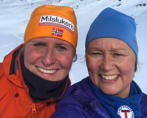 TURSØSTRE: Kristin Haga Martinsen og Heidi Holmgren stiller til valg under årsmøte til Nordkapp og omegn turlag 25. mai.