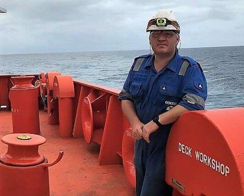 Bengt Ellingsund, overstyrmann på Bow Fortune, har vore på jobb sidan 12. januar.