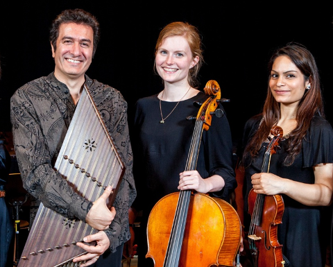 Javid Afsari Rad (santur), Tove Margrethe Eriksen (cello), Harpreet Bansal (fiolin)