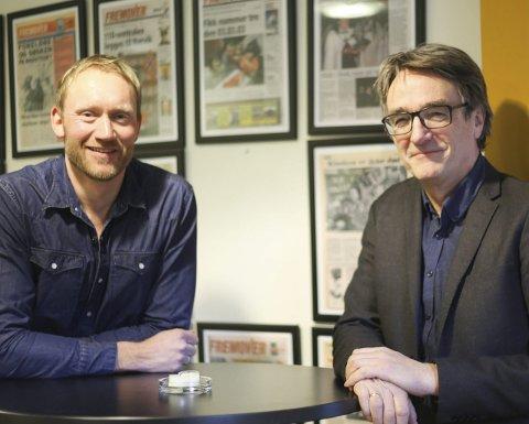 Sverre Håkon Evju og Bjørn Bremer (t.h.) overvar debatten i Stortinget om helse- og sykehusplanen. Etter at den er vedtatt går arbeidet inn i en ny fase, der Helse Nord og Universitetssykehuset Nord-Norge overtar arbeidet med å sette planen ut i livet.
