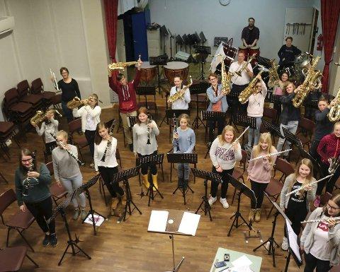 GLEDER SEG: Narvik skolekorps gleder seg til å delta og arrangere NNM for korps.