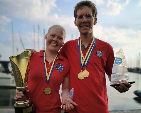 MEDVIND: Søskenparet Nora Johanne og Lars Johan er i medvind etter strålende resultater i VM.