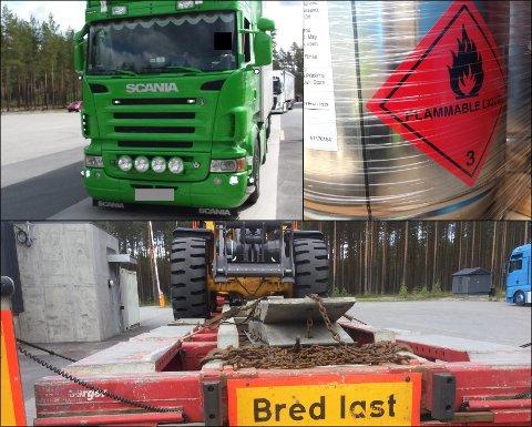 IKKE LOVLIG: Statens vegvesen forbød ni av 25 lastebiler å kjøre videre. Feil merking og ulovlig ekstrautstyr er gjengangere.