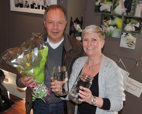 NORGESGLASS I FLENG: Thorbjørn Larsen troppet opp hos Vibeke Havenstrøm på oppdrag fra kona Inger Martit med hele 17 norgesglass.