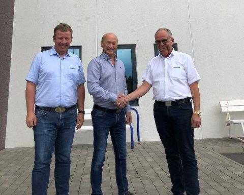 Tommy Stangeland, Torleiv Halleland og Olav Stangeland.