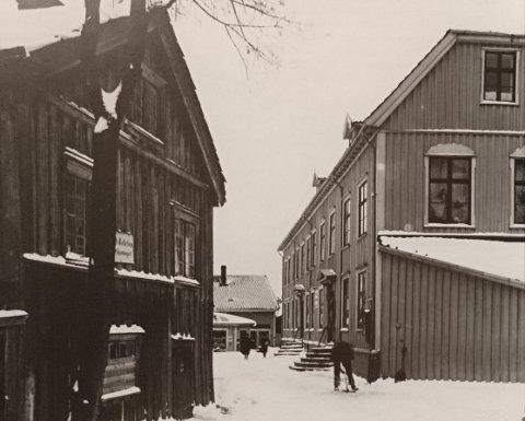 Biørnegården i Pettershollet 1919. Bilde fra boka til Knudsen Strømme.
