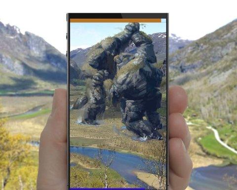 Med avansert AR-teknologi kan du med mobilappen Hidden se naturen på en helt annen måte gjennom mobilskjermen din når du er ute å går tur.