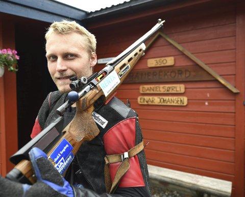 VANT: Jondalsskytteren Kim-André Aannestad Lund vant klasse 3–5 i Lågen cup med o flere innertreff enn Ole-Kristian Bryhn.