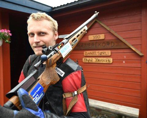ANDREPLASS: Kim-André Aannestad Lund imponerte med andreplass i helgens skyttercup i Gudbrandsdalen. FOTO: OLE JOHN HOSTVEDT