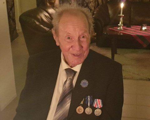 Bernyll Nordly ble hedret med den danske fredsprismedaljen like før jul 2020 for sin innsats i Gaza i 1960-61.