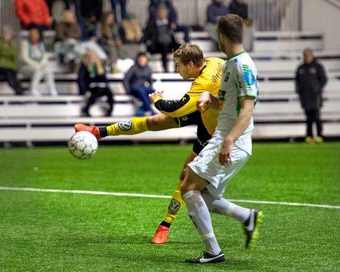 UTLIKNET: Ole Thomas Skogli sørget for 2-2 med sin scoring i kampens siste minutt mot Hønefoss.