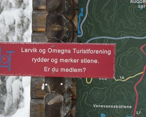 Idrettsprisen: Larvik og Omegns Turistforening fikk fjorårets Idrettspris.