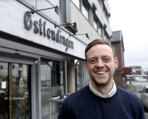 Sjef: Truls Grane Sylvarnes, ansvarlig redaktør og daglig leder i Østlendingen, er glad for å tilby tilgang til 73 andre Amedia-aviser.