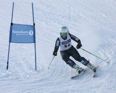 NUMMER to: Kaja Olsen fra Rana slalåmklubb ble nummer to i super-G i klassen jenter U14.