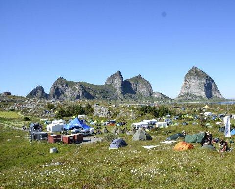 Festivalcampen på Trænafestivalen i fjor.
