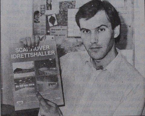 1987: For 32 år siden handlet det om idrettshaller. Nå er det andre slags installasjoner denne mannen jobber med. Hva heter han?